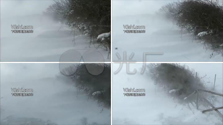恶劣天气条件实拍暴风雪