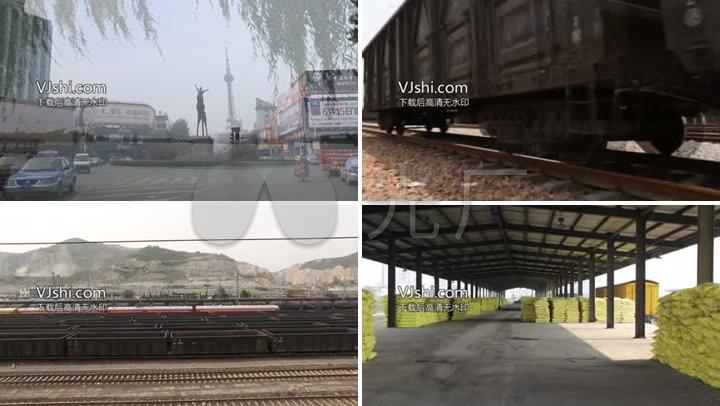 火车运输货车车站交通