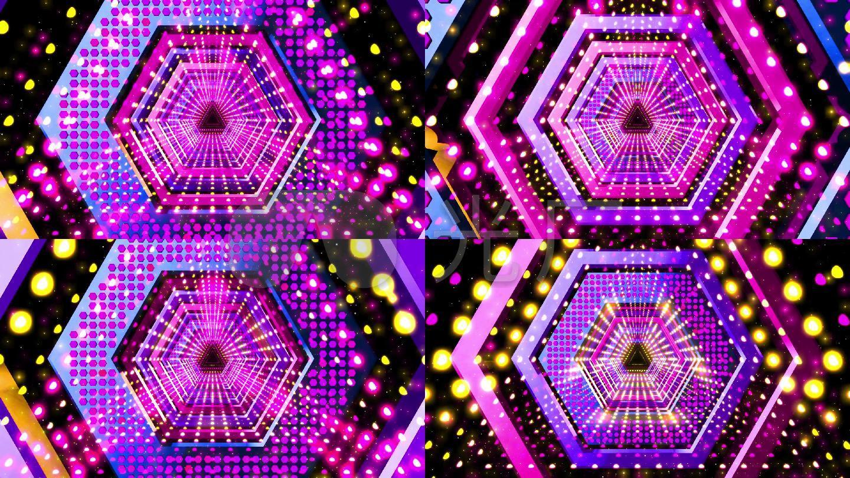 抽象魔幻菱形隧道VJ视觉舞台背景视频素材