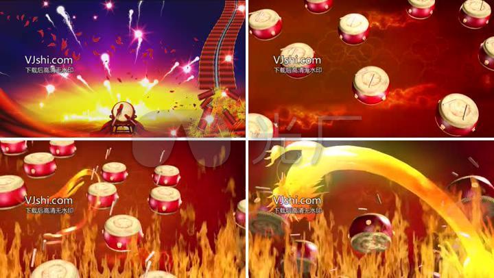 开场舞蹈红红火火LED视频背景