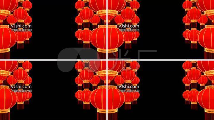 2017新年春节红灯笼边框遮罩透明通道
