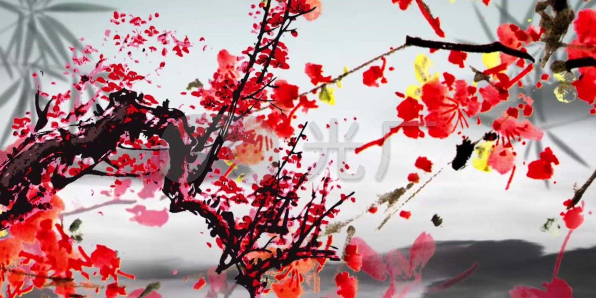 红梅赞舞美led视频背景_1920X960_高清视频热巴黄视频图片