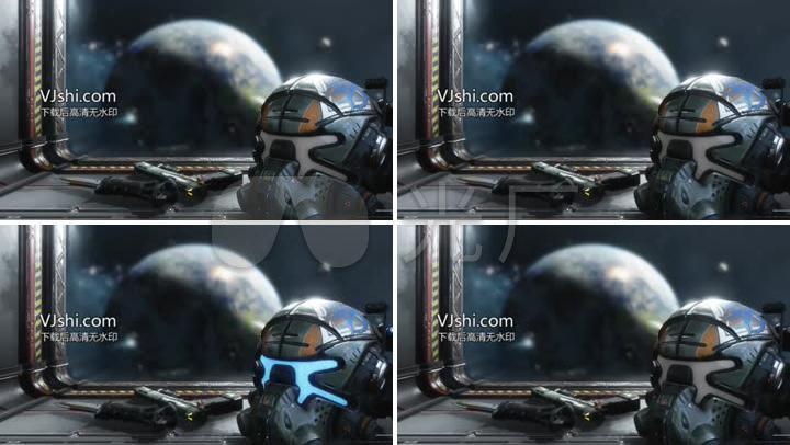 无缝头盔星球战争科幻未来循环