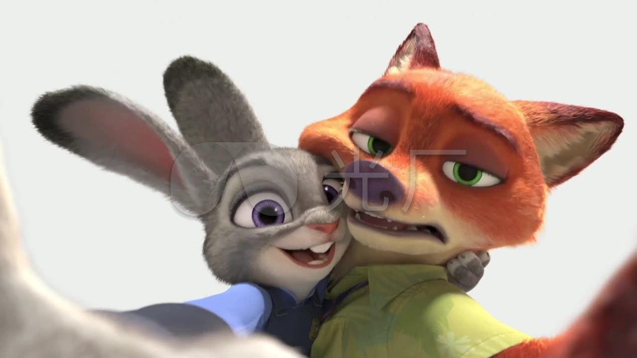 a兔子兔子合影拍照动物动漫3D漫画狐狸_1280莎士比亚卡通人物图片