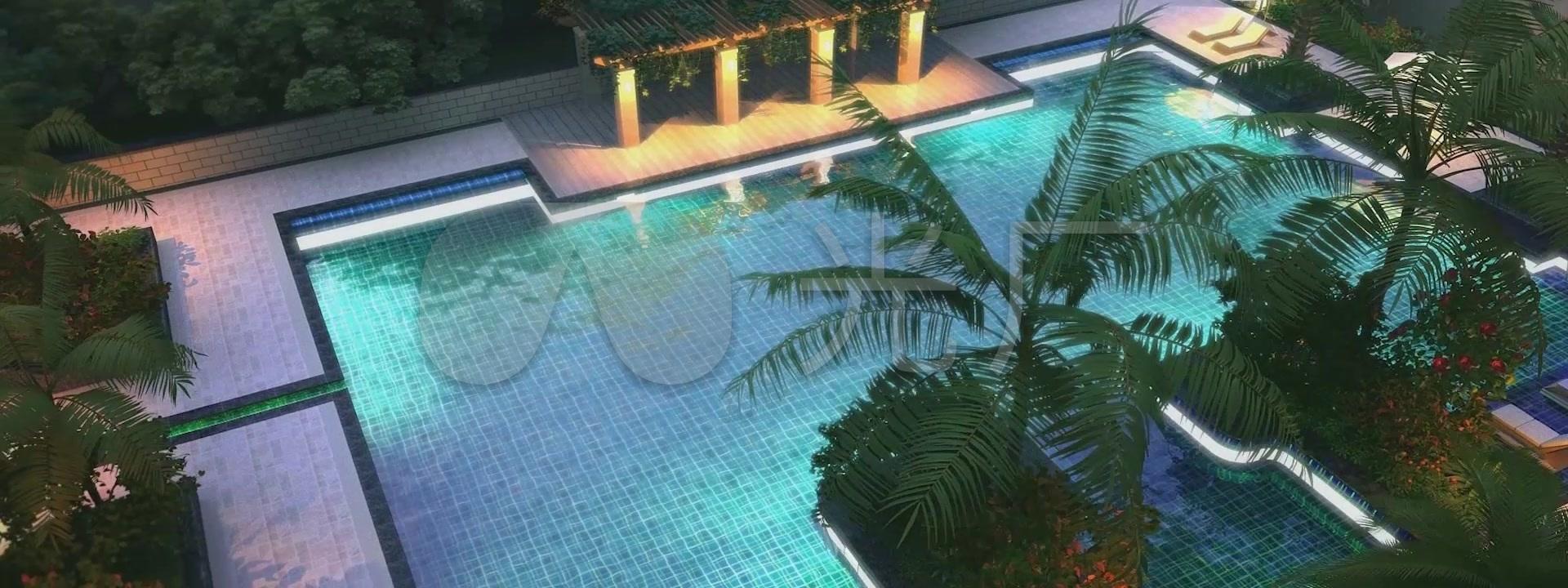动画大厅游泳池停车场3d建筑v动画小区水景_1太原学一个平面设计多少钱图片
