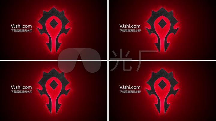 4k魔兽世界wow部落徽章标志