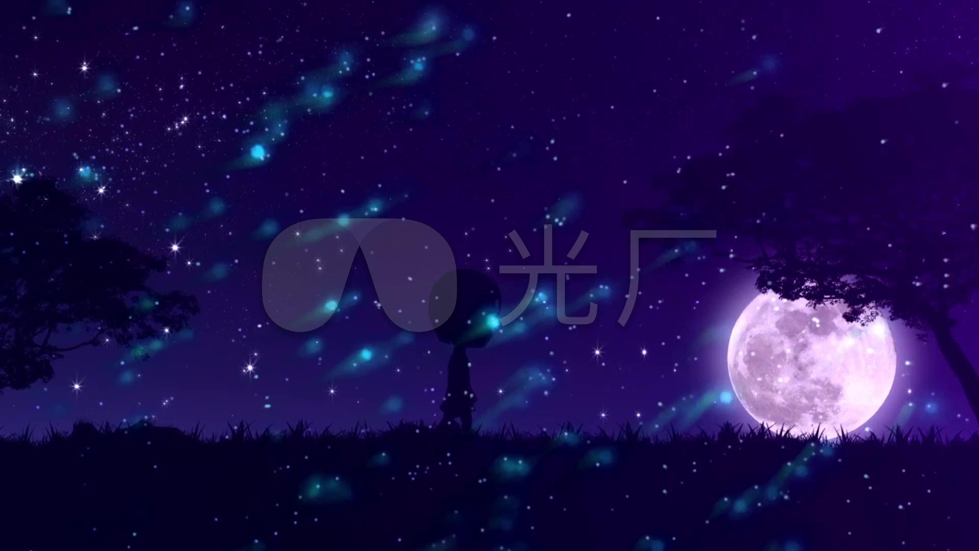 虫儿飞儿童卡通星空城市夜晚_1920x1080_高清视频素材图片