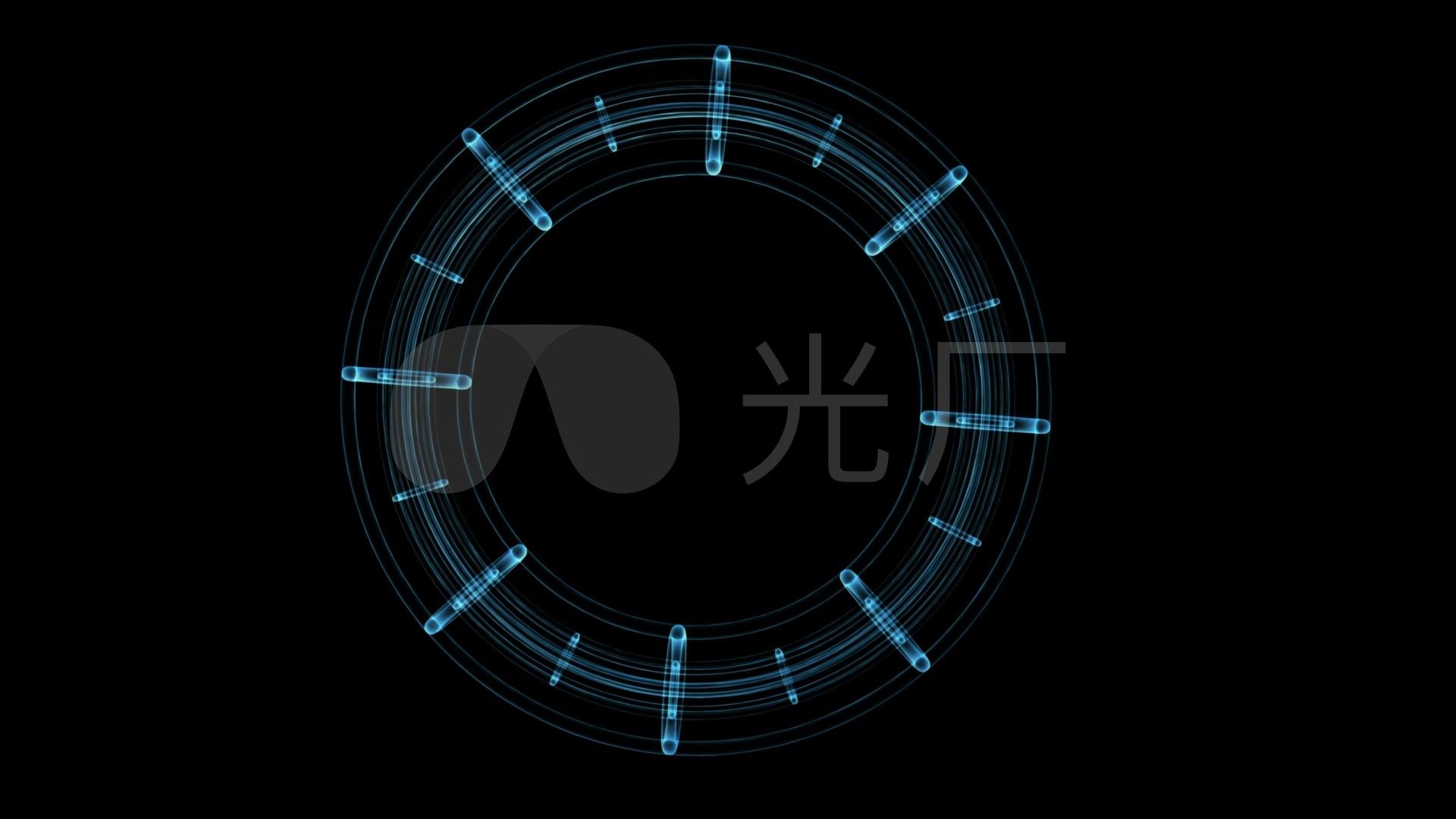 智能科幻视觉冲击圆圈旋转透视分析视频素材