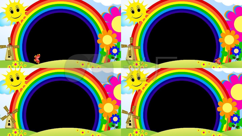 六一儿童节彩虹边框视频