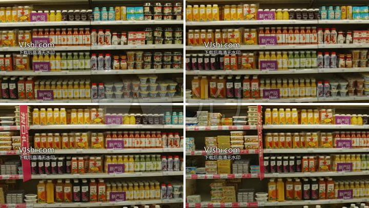 hd超市饮料货架沃尔玛_1920x1080_高清视频素材下载图片