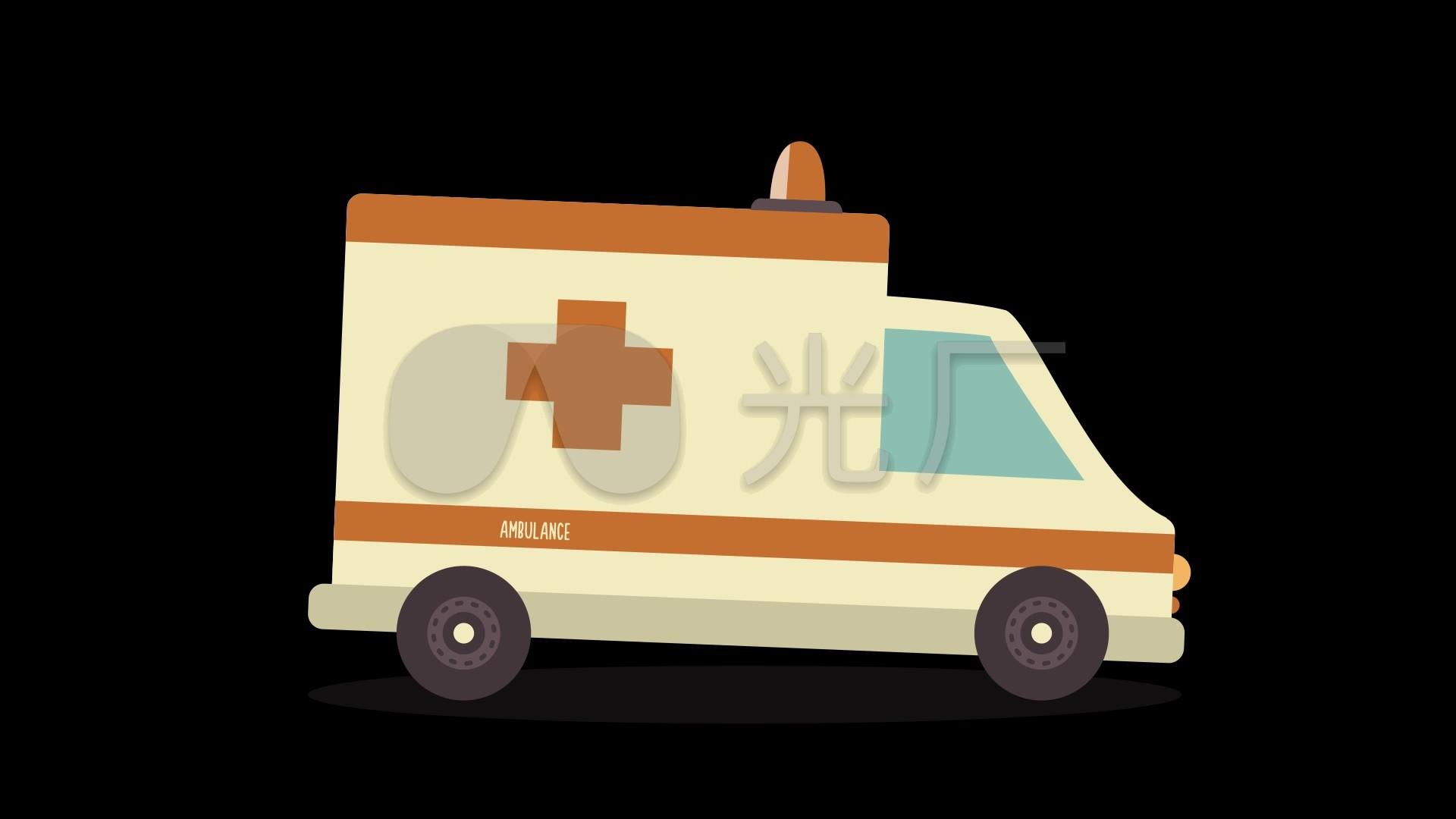 mg动画救护车_1920X1080_高清视频素材下载行政视频图片