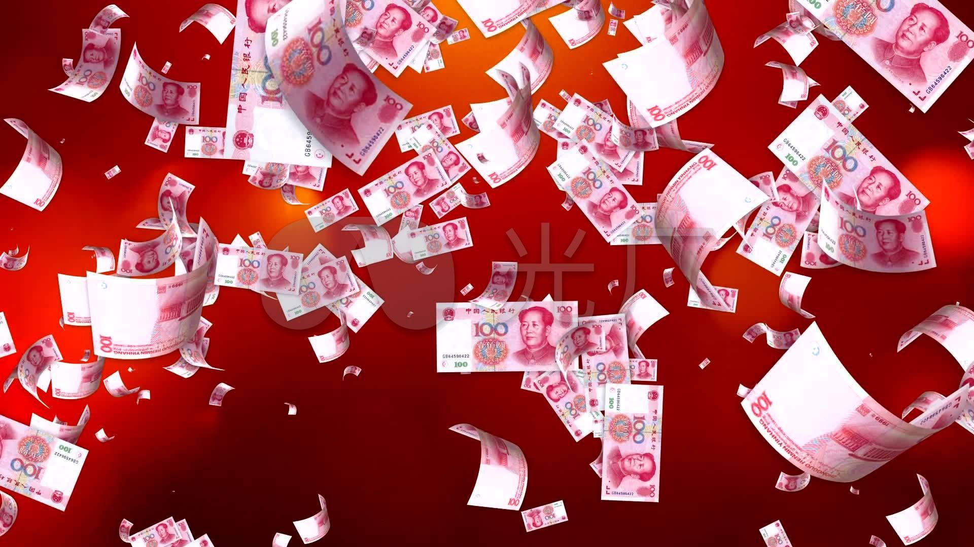 天上掉钱喜庆视频_1920x1080_高清视频素材