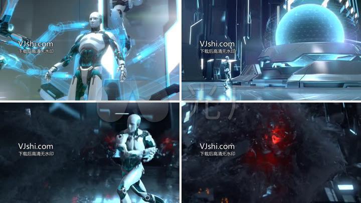 機器人戰斗高科技未來科技三維動畫帥氣擬人圖片