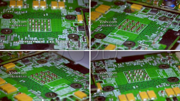 超清拍摄电路板上的电路原理
