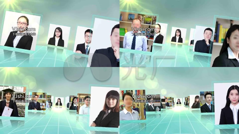 简洁大气 商务视频 宣传片团队展示出照片图片