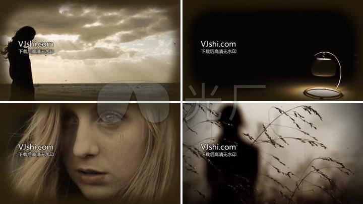 孤独悲伤绝望的视频素材