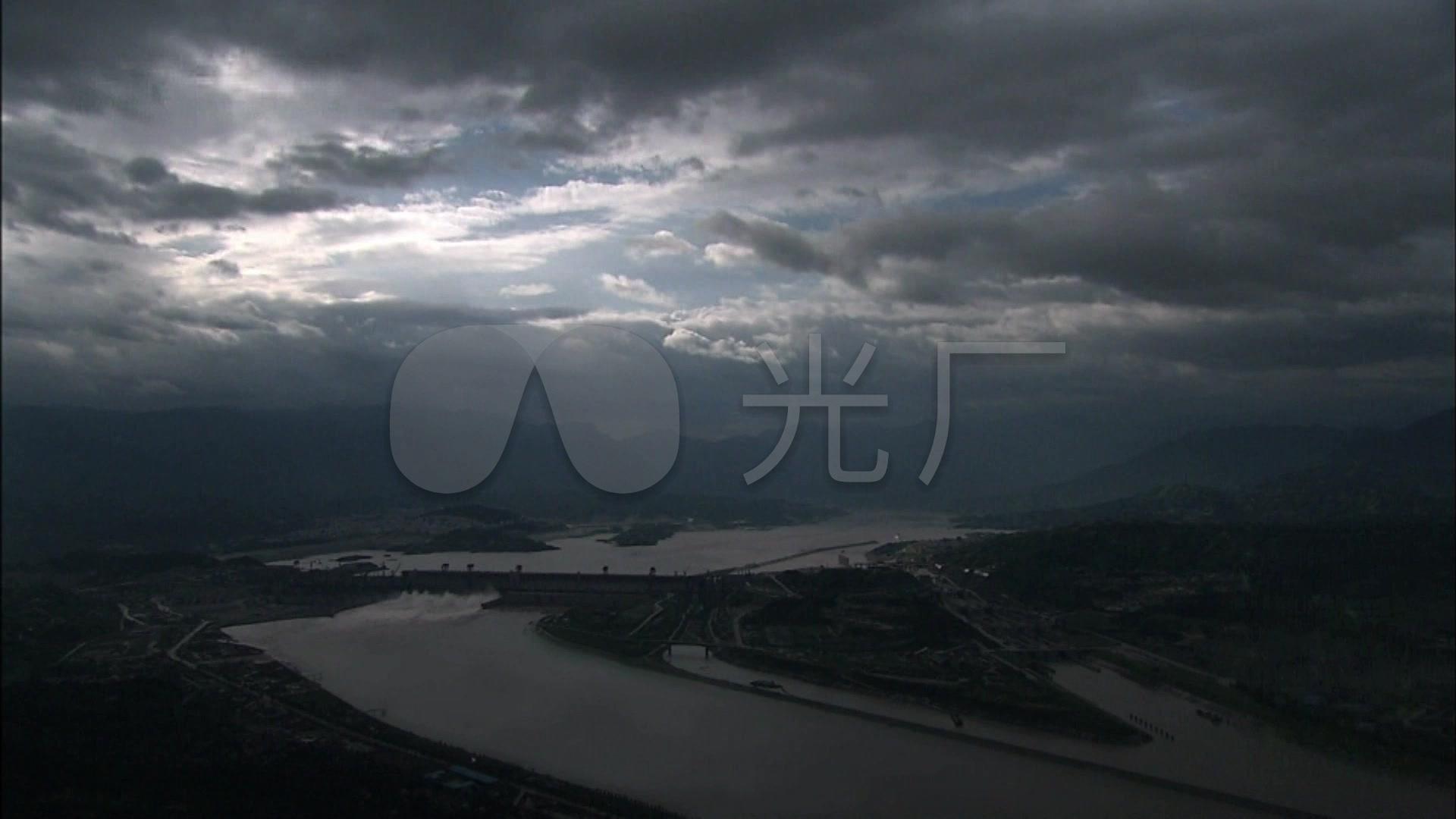 长江三峡大坝泄洪水力发电站视频_1920X108水坝安卓v视频图片