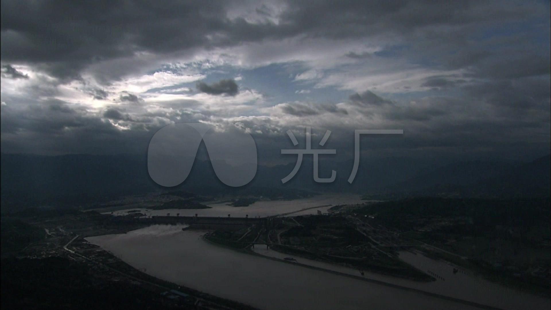 长江三峡大坝泄洪水力发电站水坝_1920X108仙寻v水坝视频图片