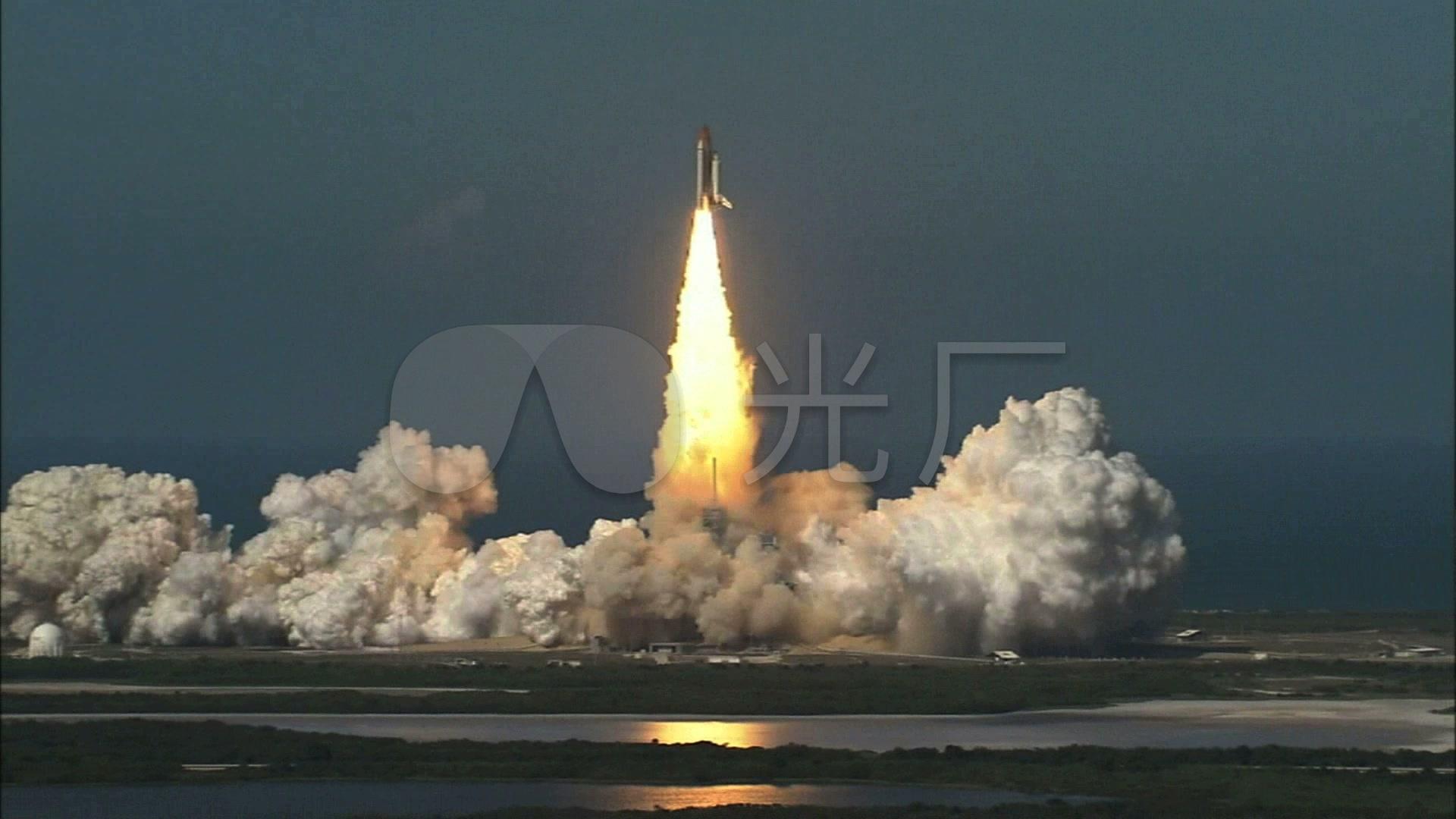 航天飞机发射升空_1920x1080_高清视频素材下载(编号