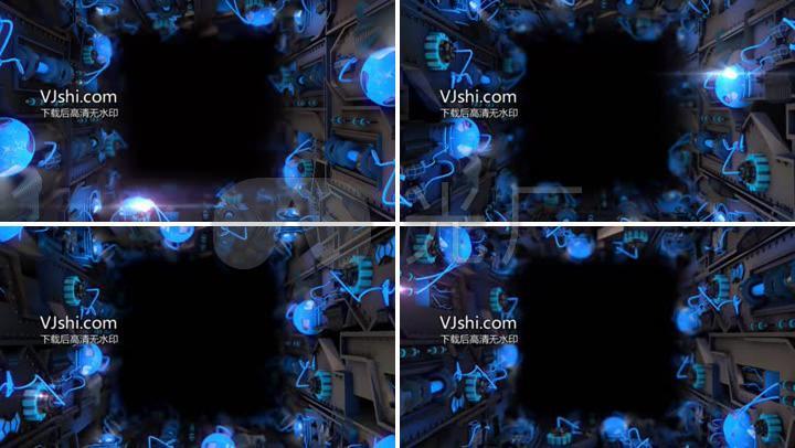 电子机械科技立体感边框中间可加logo