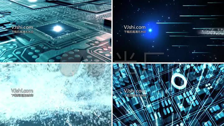 互联网科技宣传片视频片头AE模板