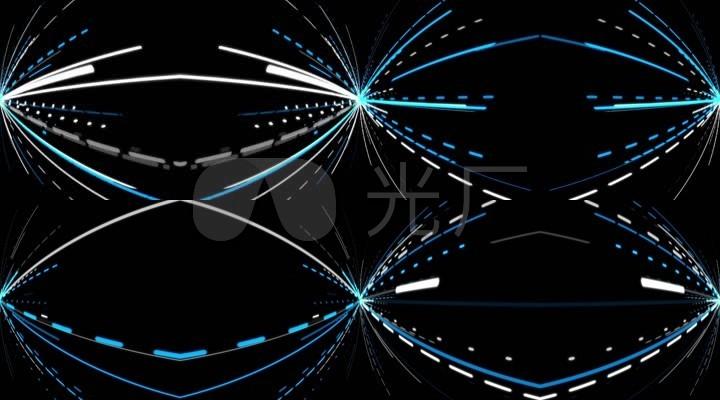 椭圆形虚线蓝白线条光速背景素材