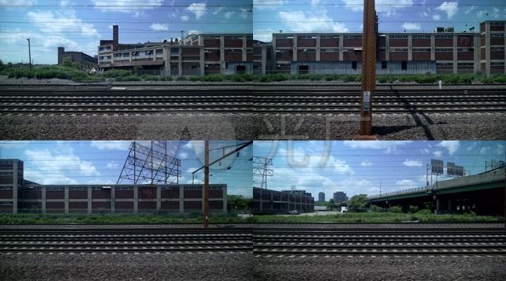 火车窗外的建筑风景_1920x1080_高清视频素材下载(:)