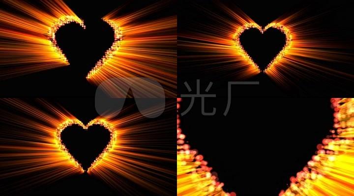 4k高层金色教材燃烧的粒子vj光线背景视频建筑设计心灵图片
