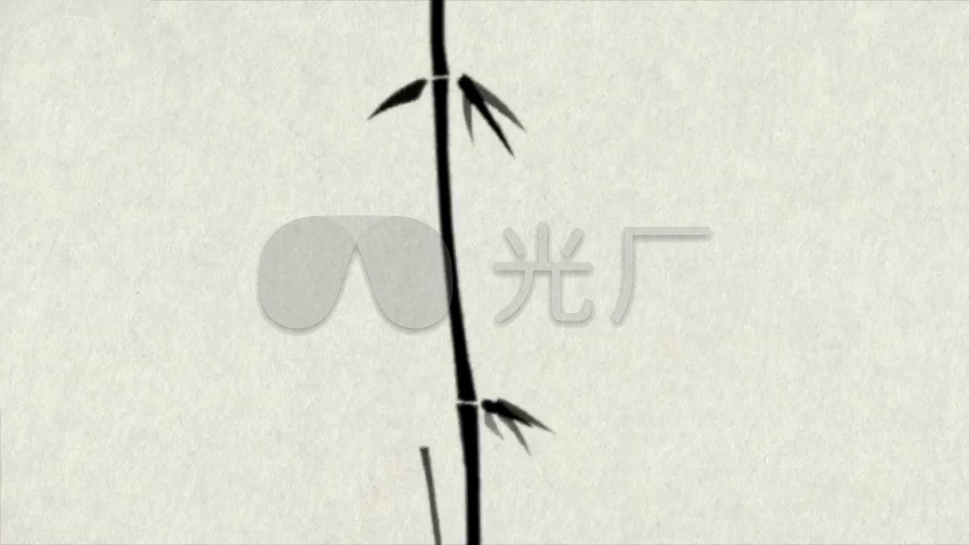 视频生长视频中国风_1920X1080_水墨高清素竹子暖通空调图片