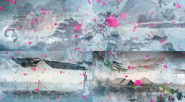 此生不换青鸟特点建筑舞台成品中国风水墨大雁塔的配乐飞鱼是什么图片