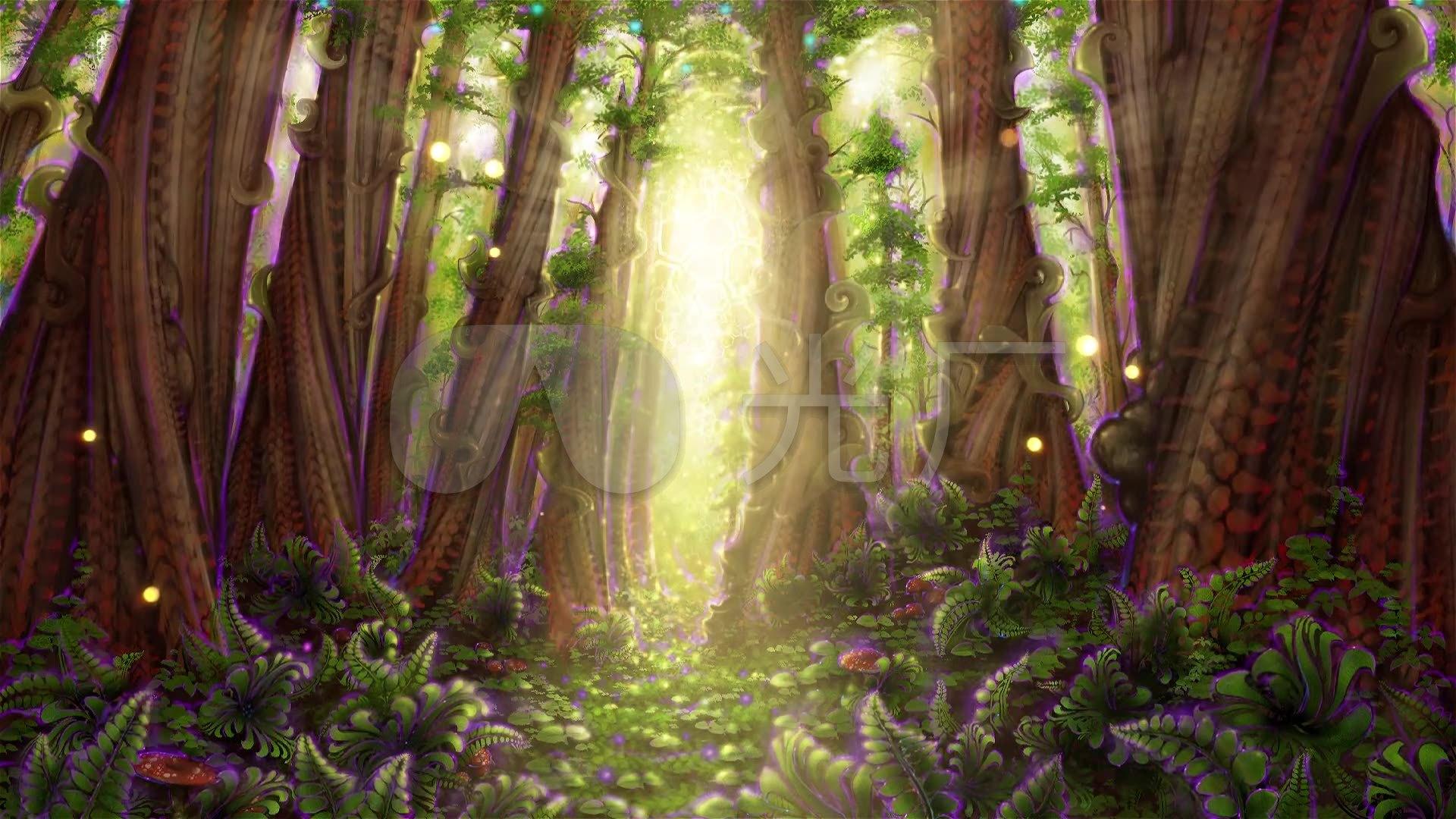奇幻森林舞台led背景素材图片