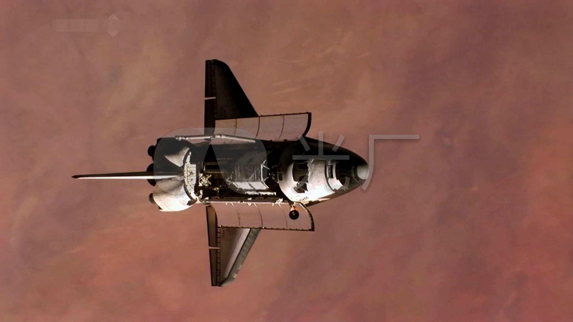 宇航员空间站航天飞机_1920x1080_高清视频素材下载