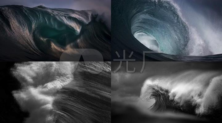 4kcg海浪瞬间广告宣传片素材