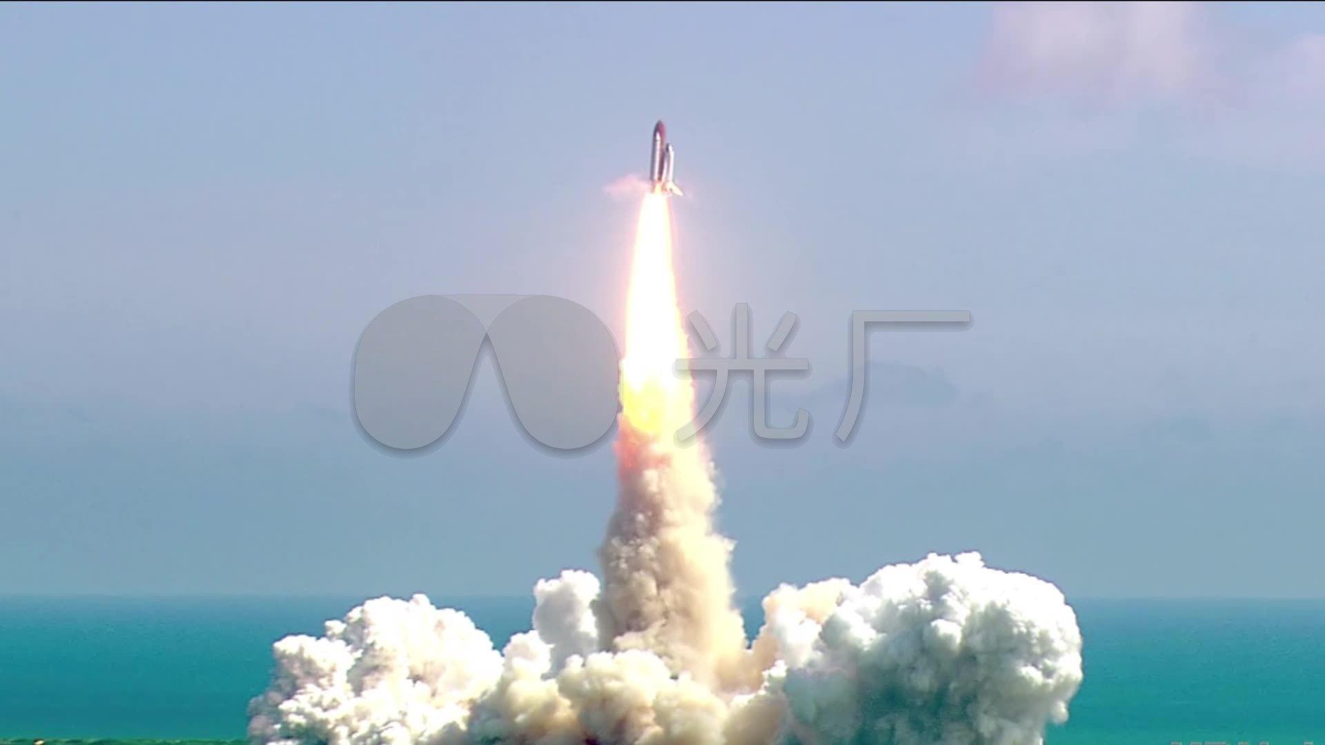 航天火箭飞船发射点火升空1_1920x1080_高清视频素材