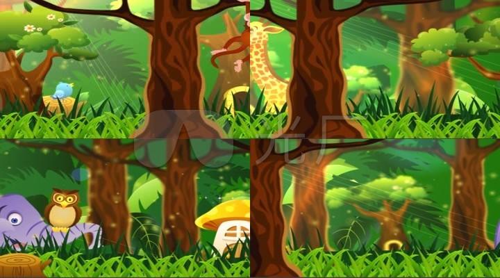 森林小动物动画