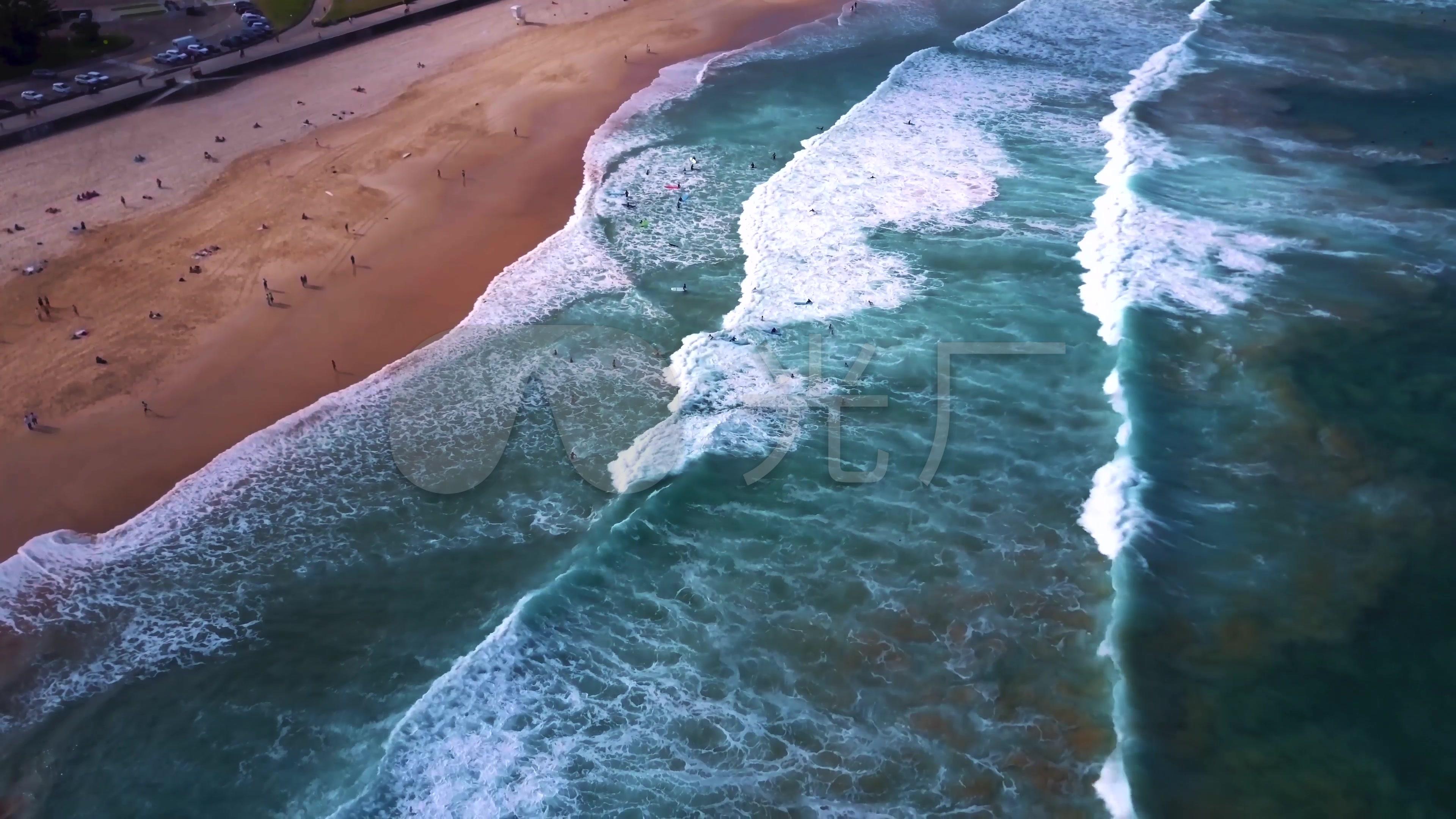 4k航拍海岛滨海城市意境风光