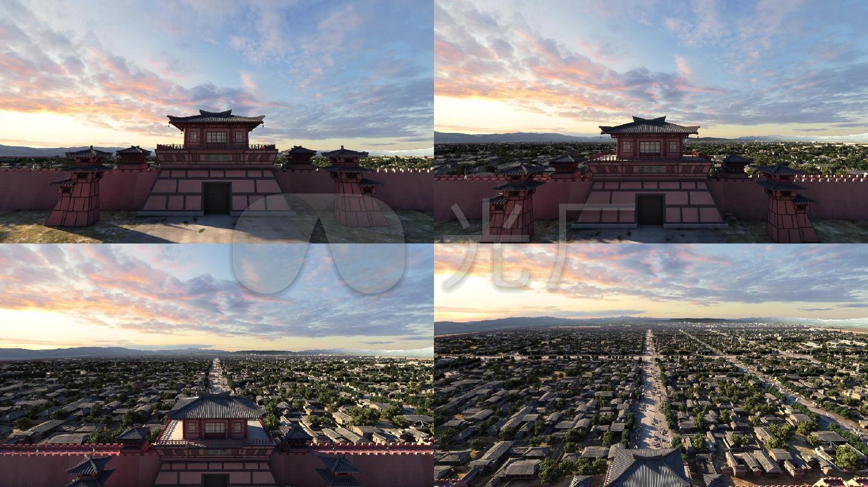 汉代建筑城市1图片