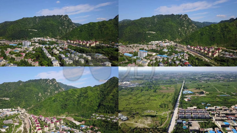 航拍大秦岭-美丽新农村图片