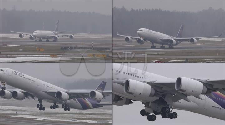 起飞视频民航启航机场客机实拍成绩_1920X12014永城招教飞机图片