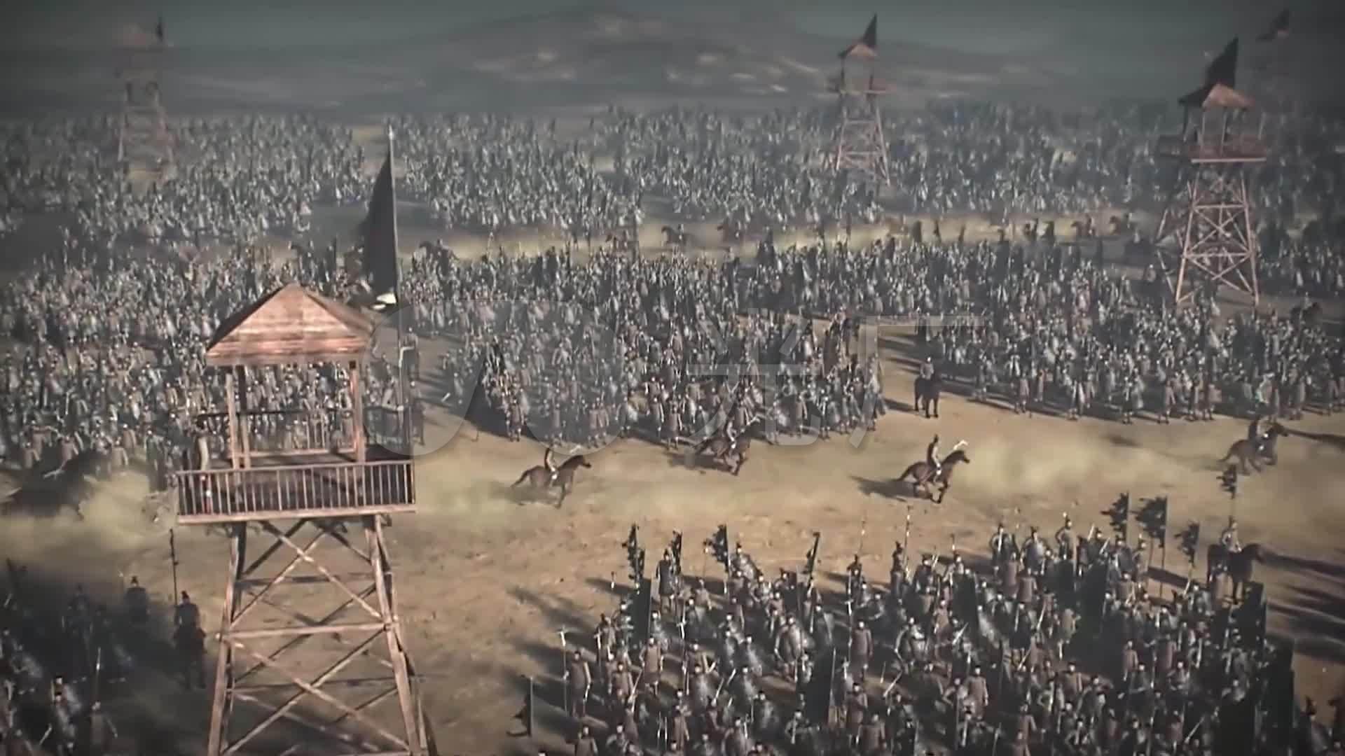 中国古代视频3D动画战鼓箭效应_1920X10803质量战火战争图片