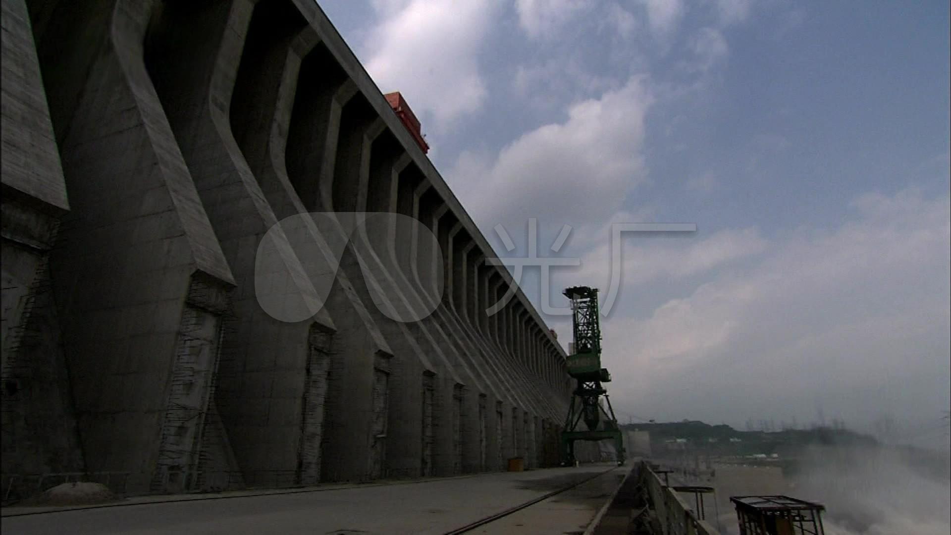 长江三峡大坝排洪泄洪_1920X1080_折页高清视频三视频图片