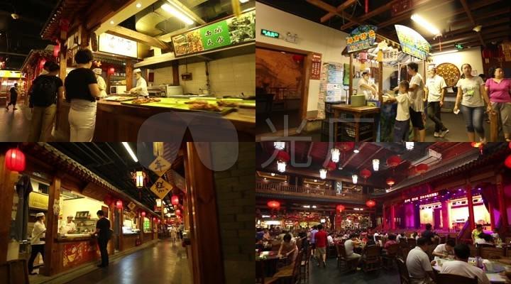 小吃城美食街饭店酒馆