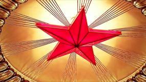 一带一路华表五星红旗天安门大会堂代表开会