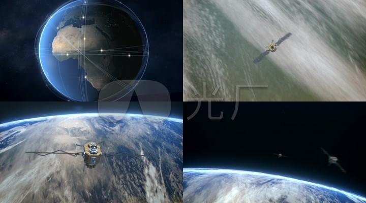 地球与卫星运行轨道