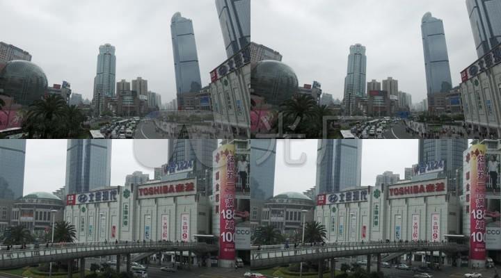 上海徐家汇街景高楼大厦道路