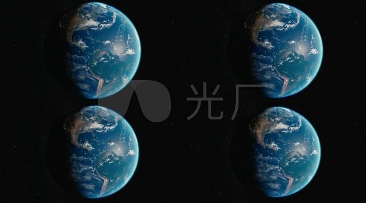 地球地球特写地球旋转星空