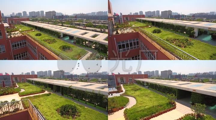 航拍学校内景文件空中花园05