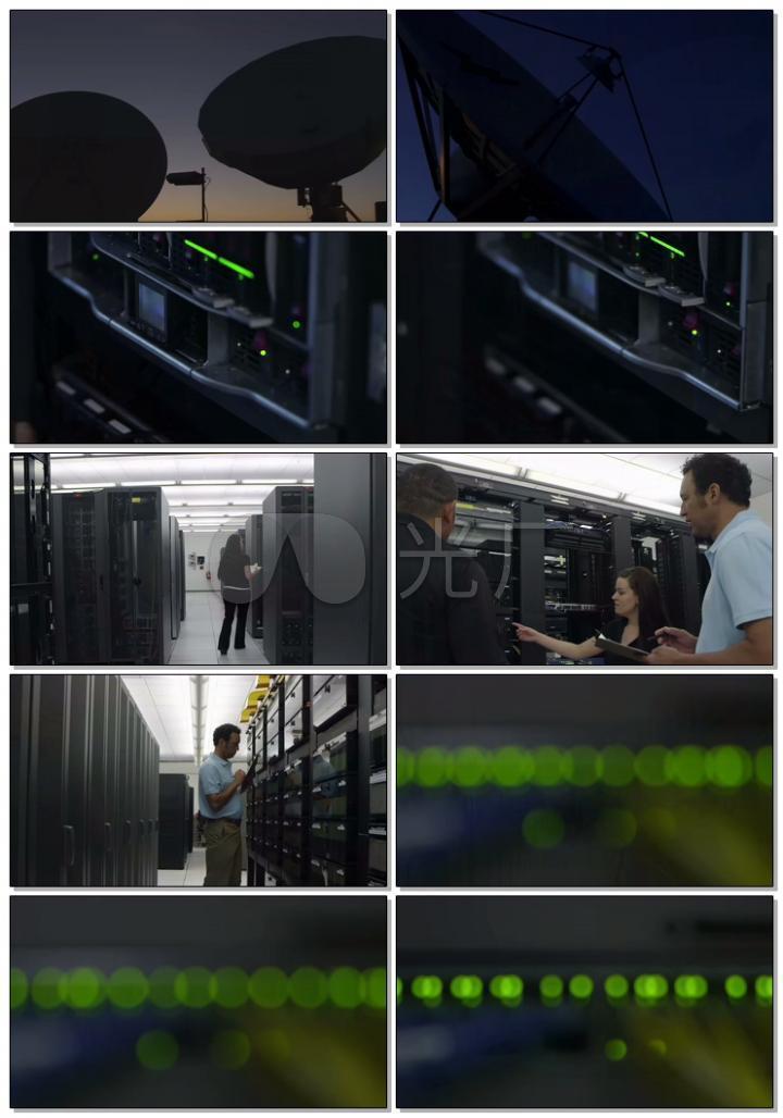 高科技卫星接收器服务器机房4K