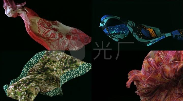 丝绸运动飘动效果视频素材