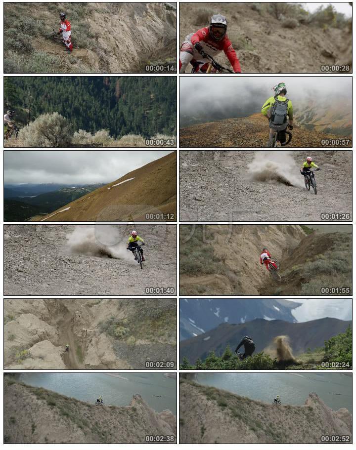 4K陡峭悬崖户外极限运动骑行刺激挑战